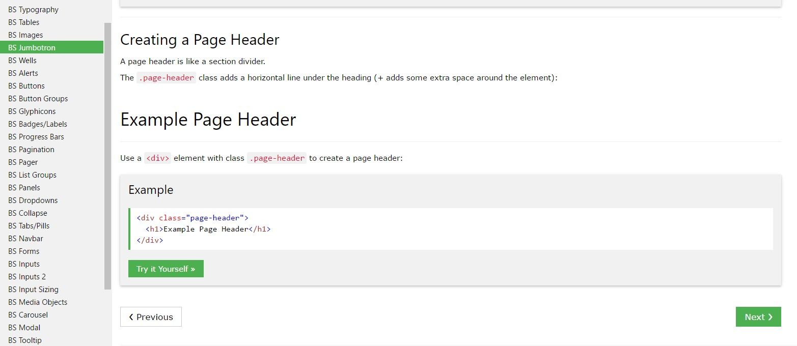 Bootstrap Header tutorial