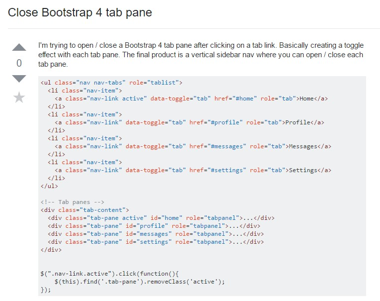 How you can close Bootstrap 4 tab pane