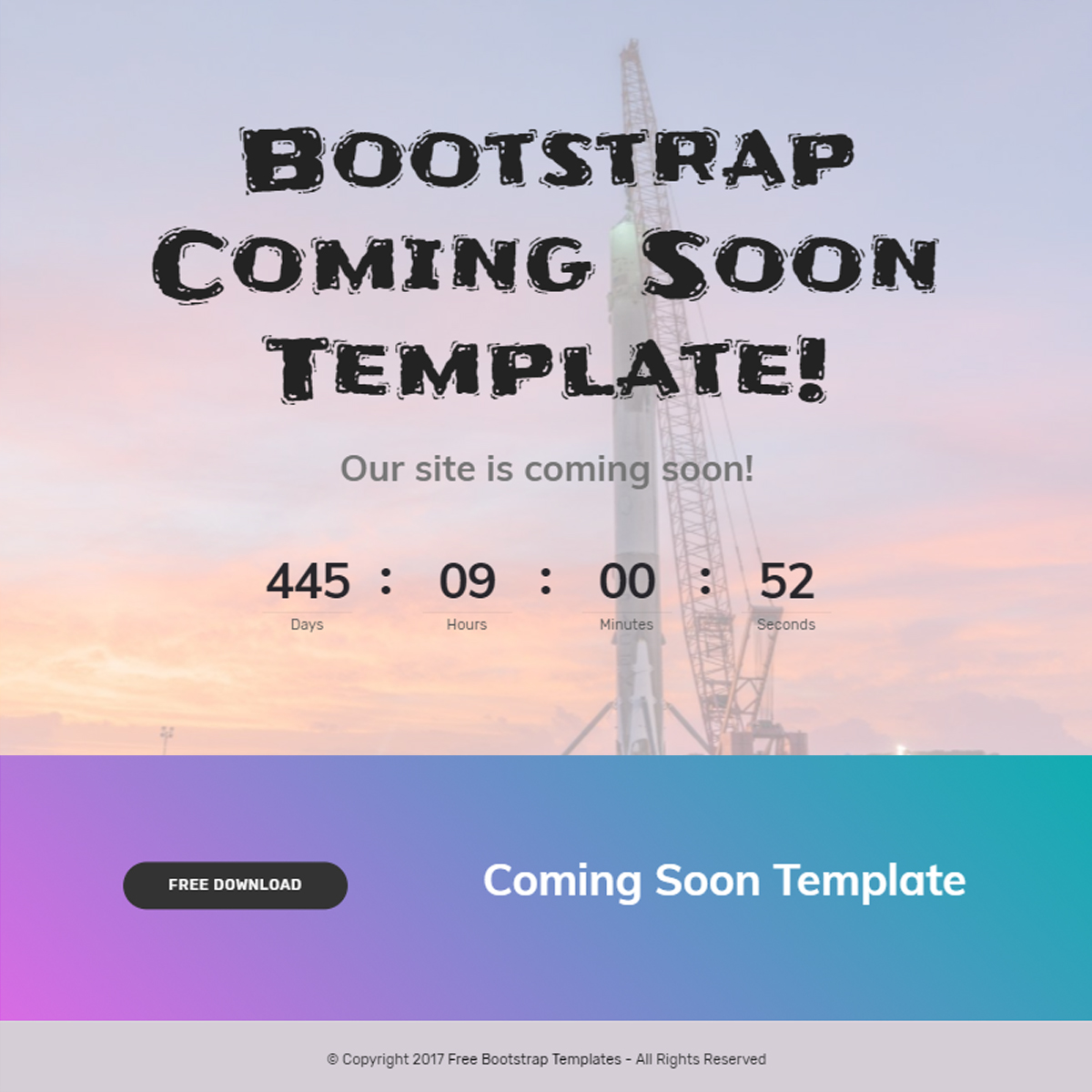 HTML5 Bootstrap Coming Soon Templates