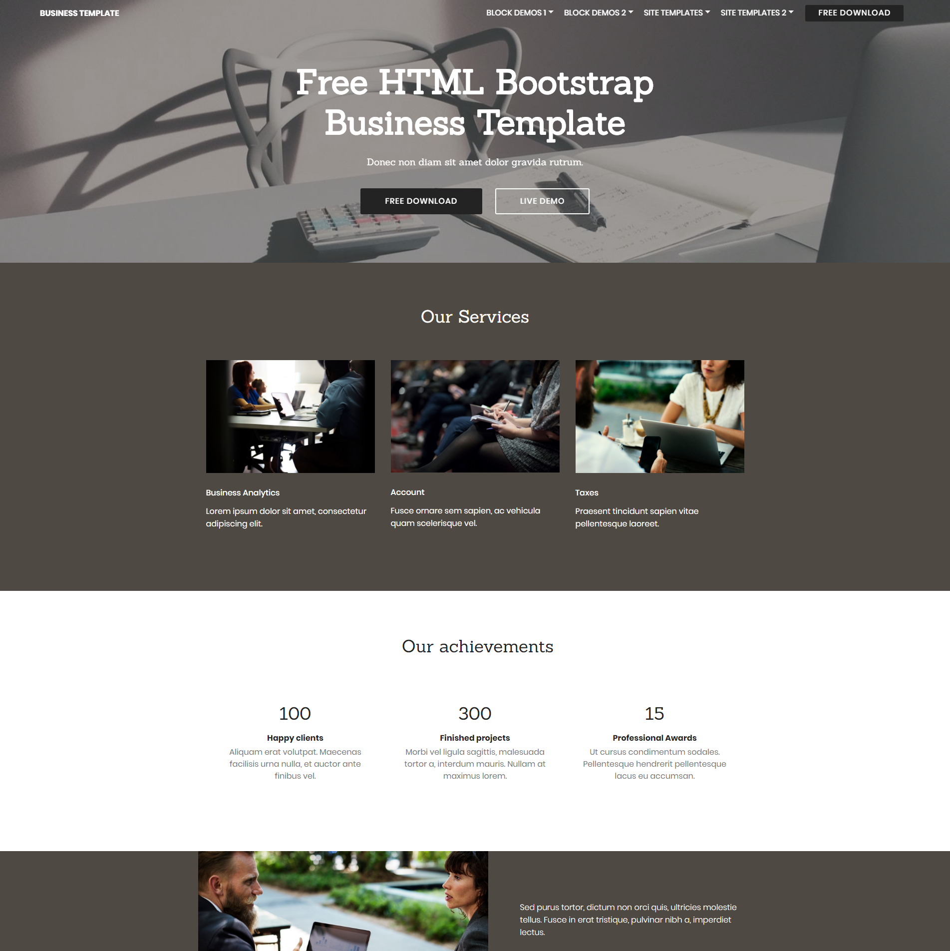 HTML5 Bootstrap Business Templates