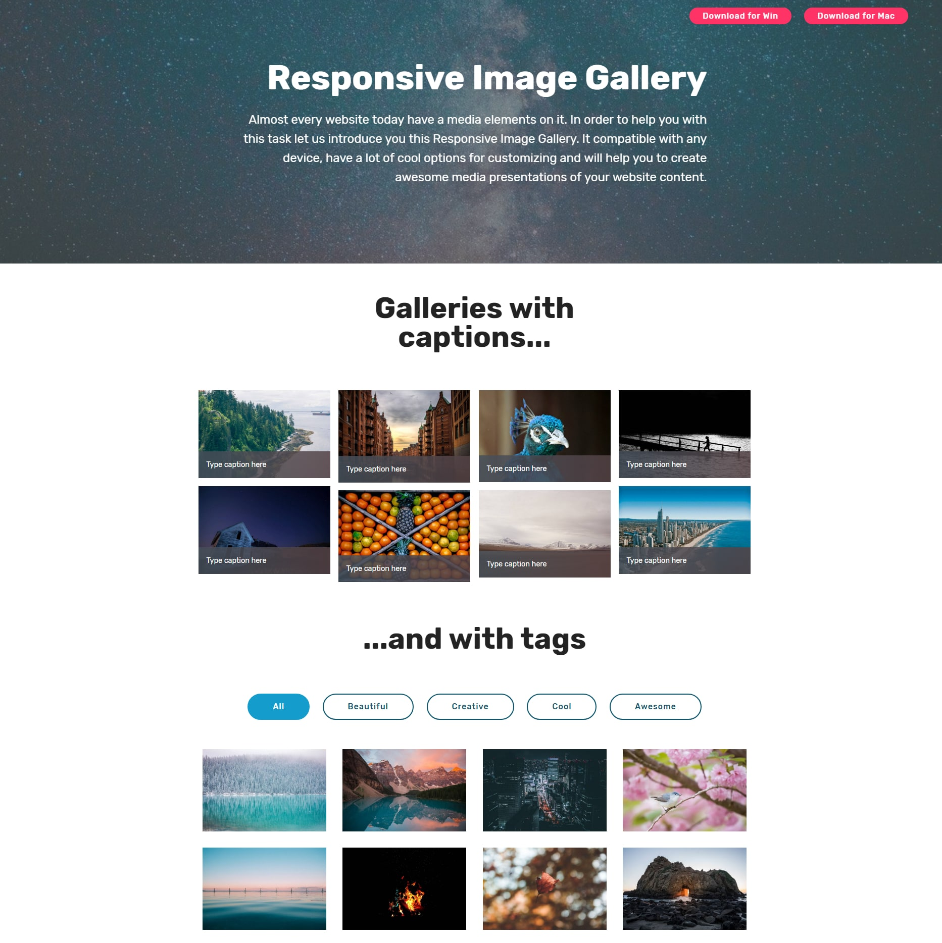 jQuery Bootstrap Picture Gallery