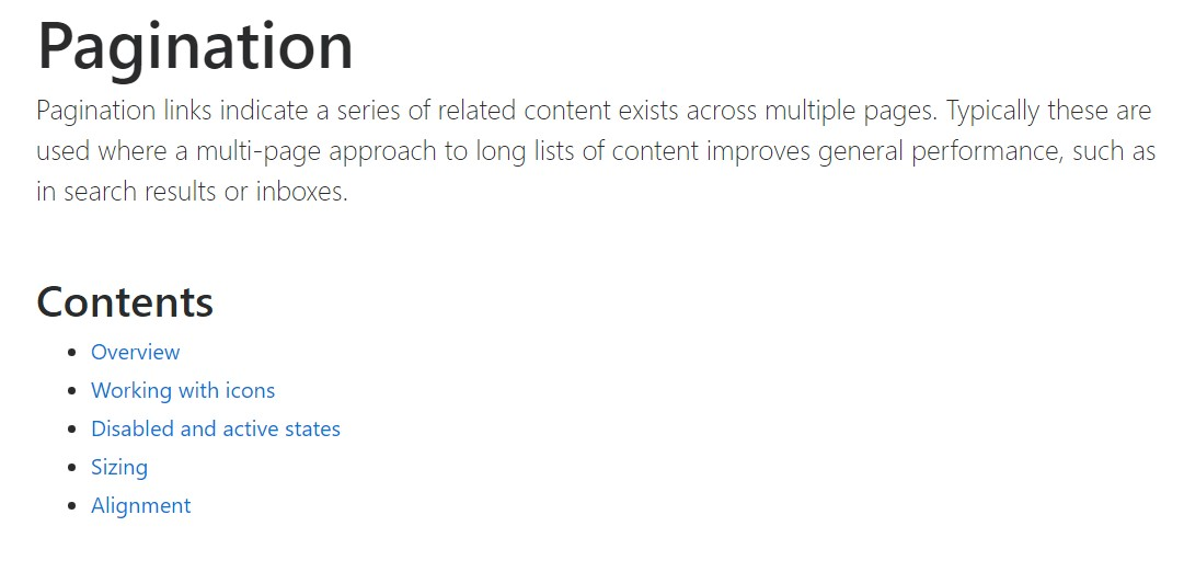 Bootstrap pagination  formal  documents