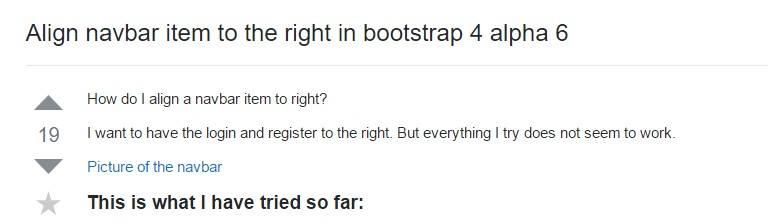 Coordinate navbar  object to the right  within Bootstrap 4 alpha 6