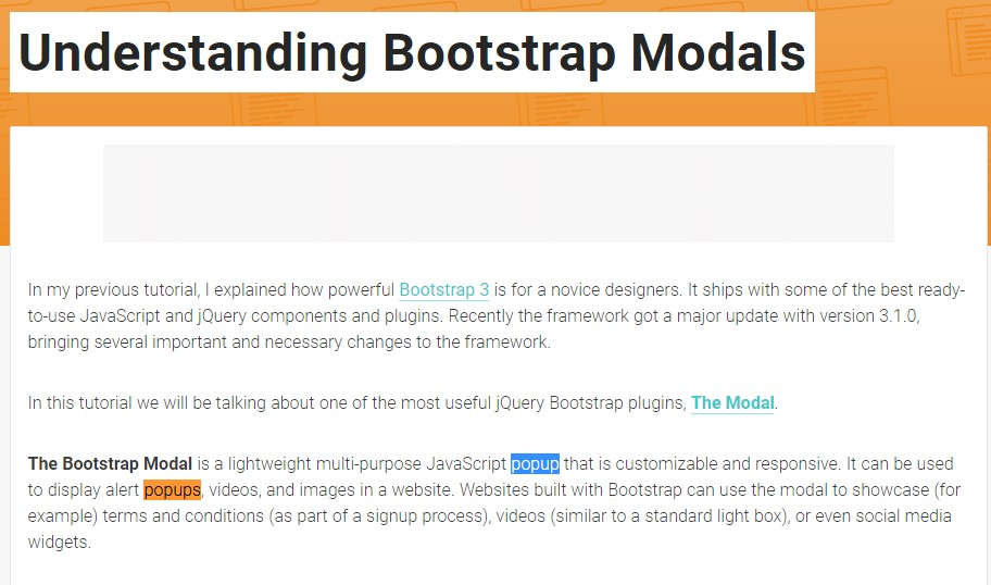An additional useful article  concerning Bootstrap Modal Popup