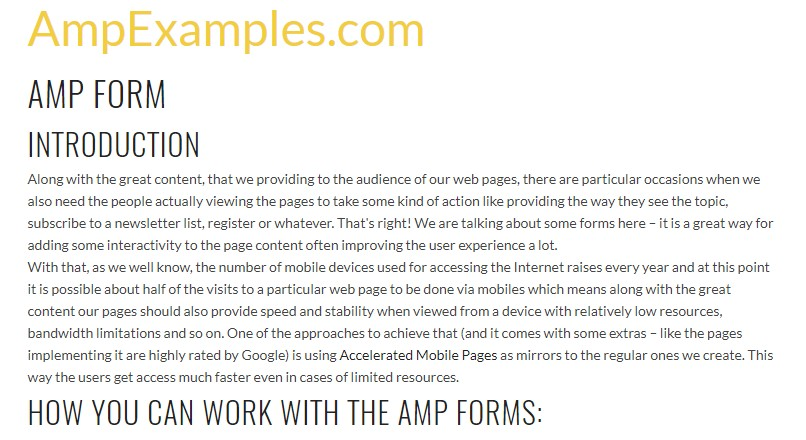 Why don't we  check out AMP project and AMP-form element?