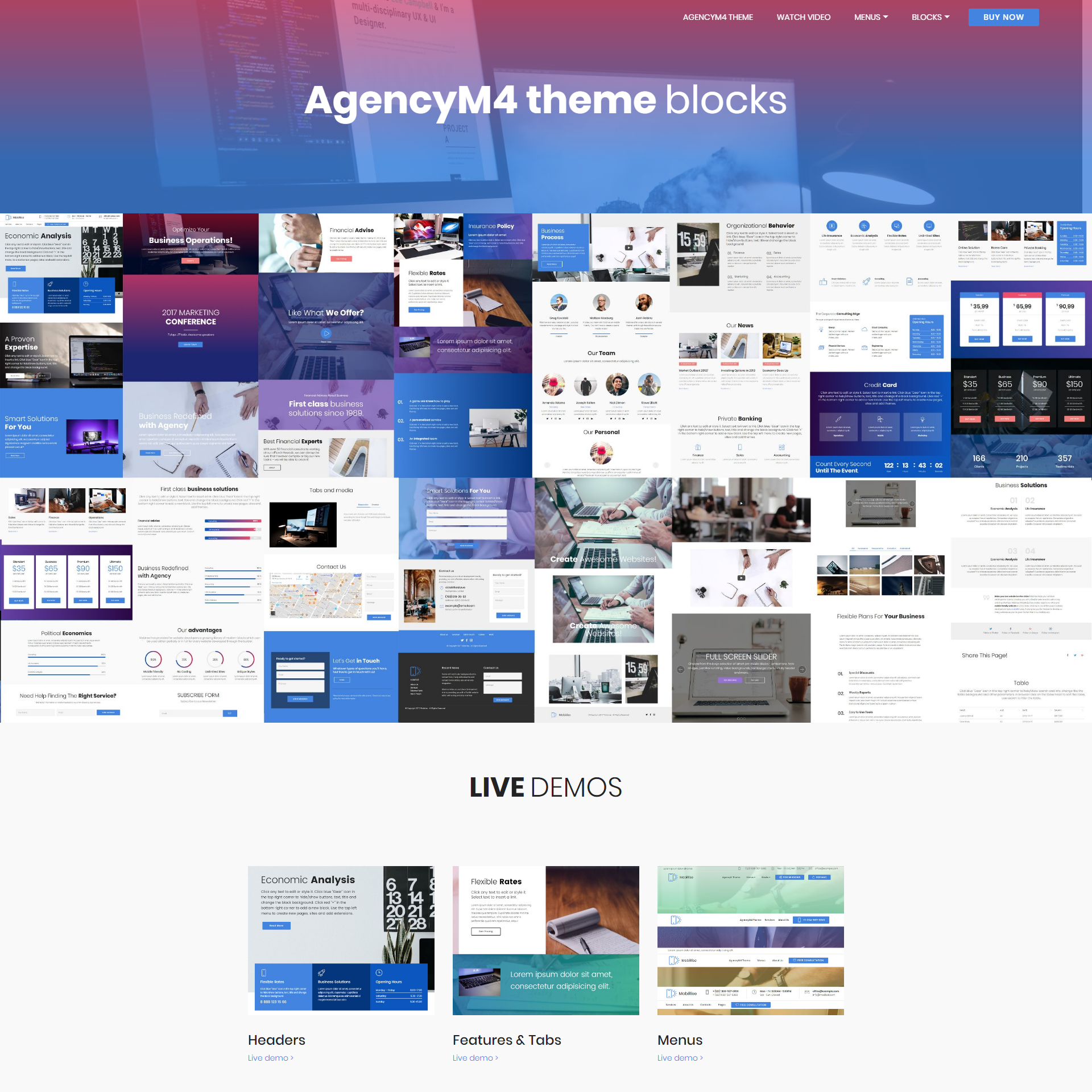 Free Bootstrap AgencyM4 Templates