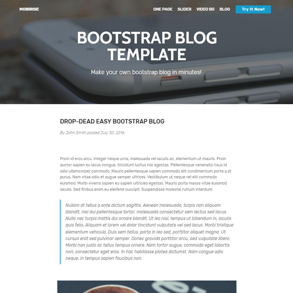 HTML5 Bootstrap Blog Themes