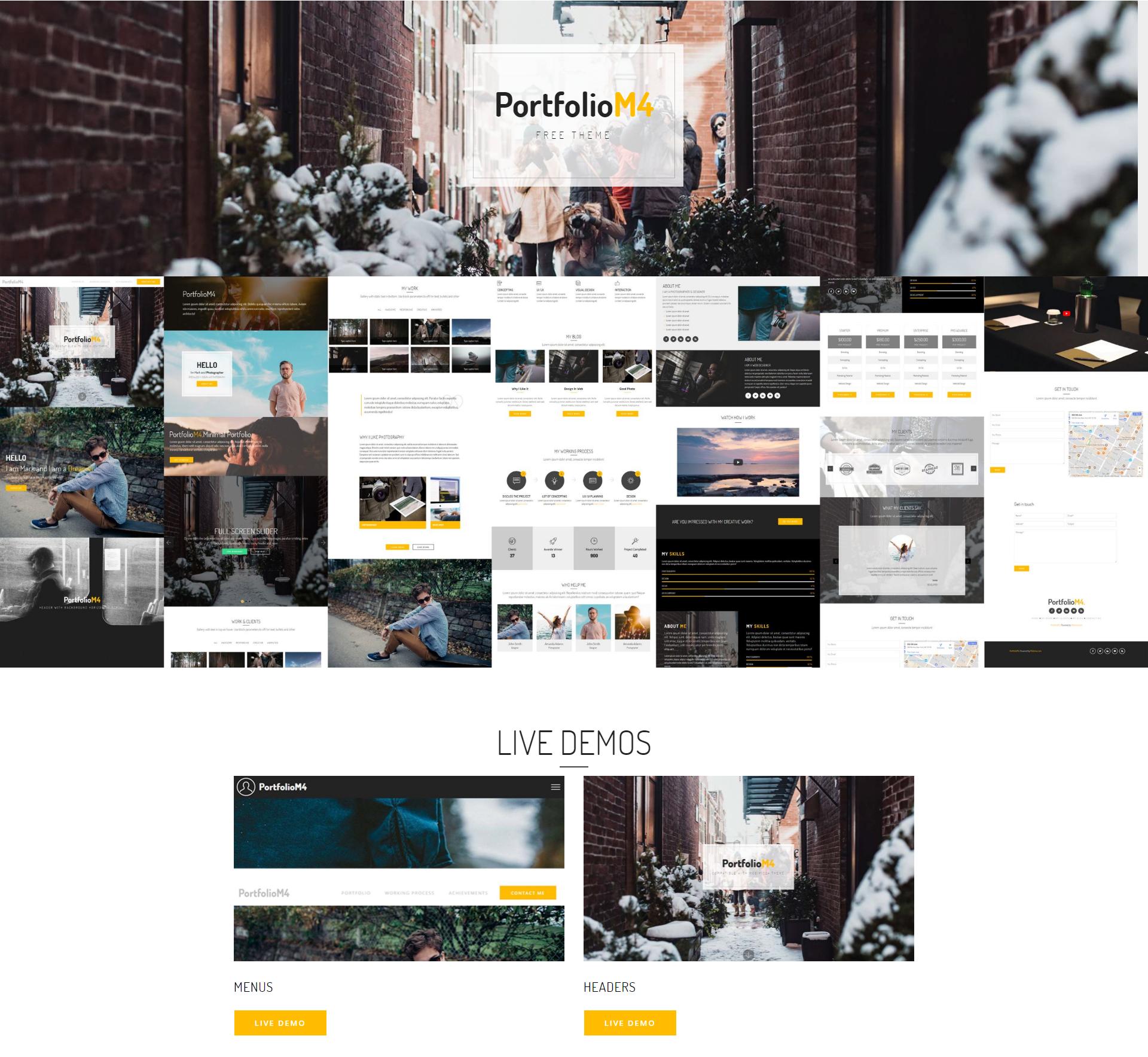 HTML5 Bootstrap PortfolioM4 Themes