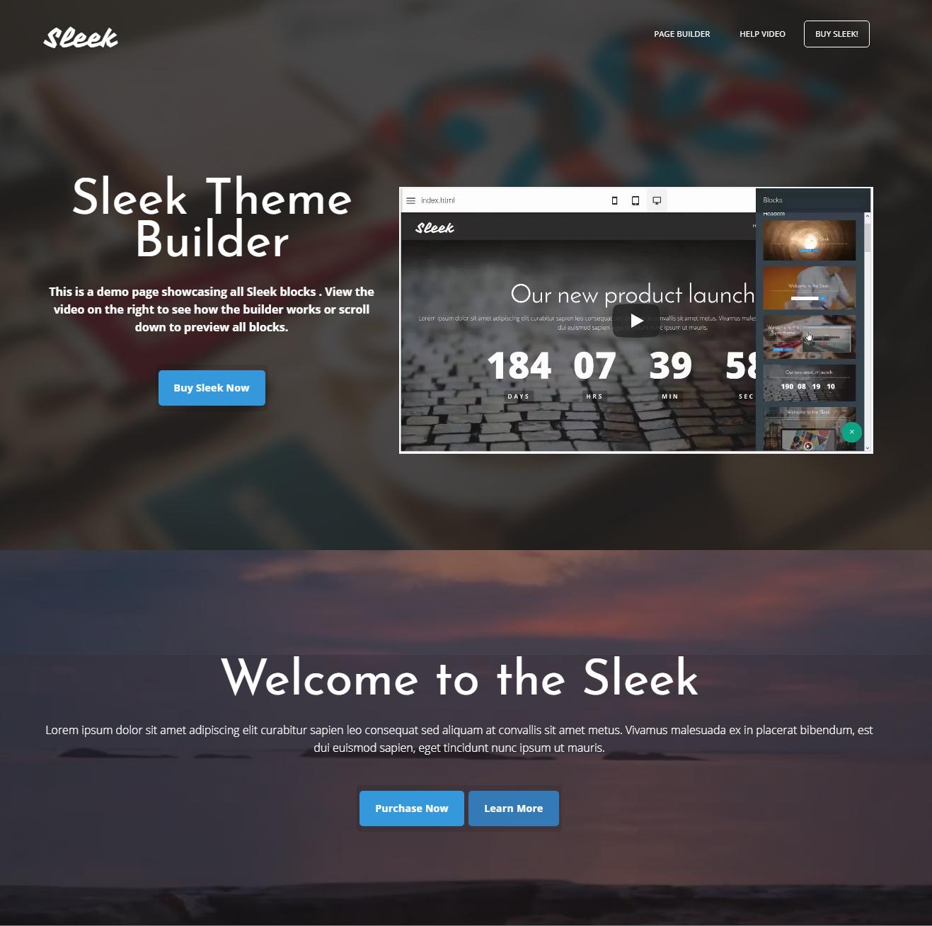 HTML Bootstrap Sleek Themes