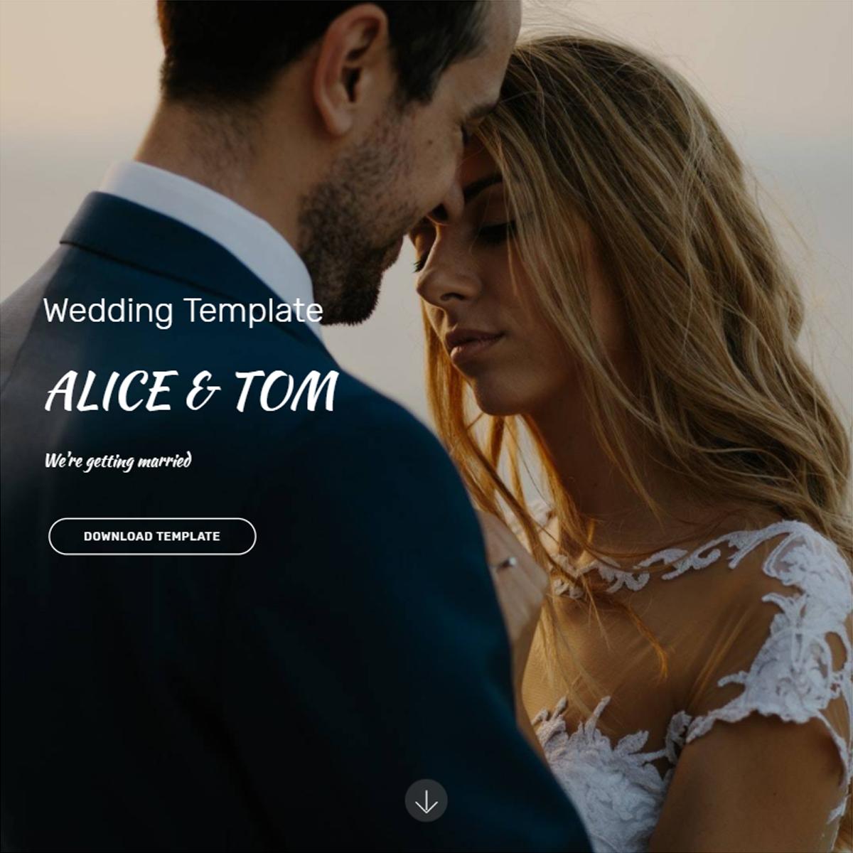 Free Bootstrap Wedding Themes