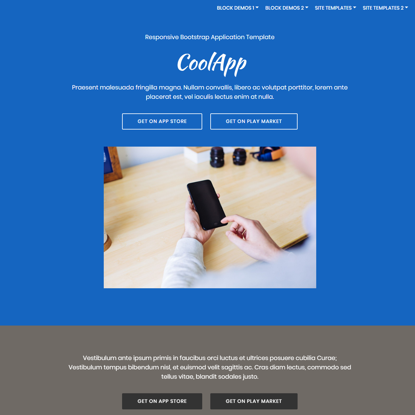 Responsive Bootstrap Application Themes