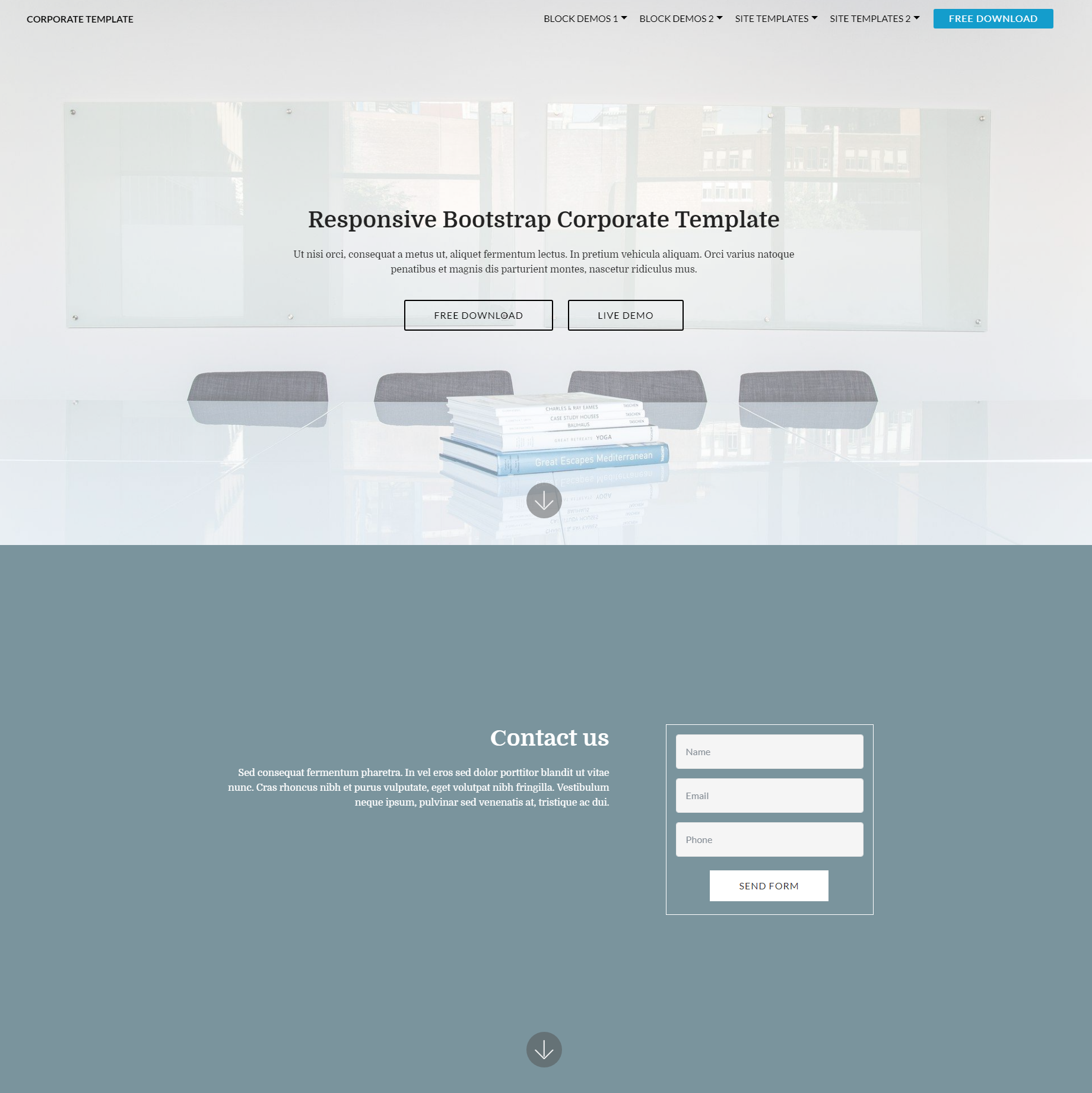 Responsive Bootstrap Corporate Themes