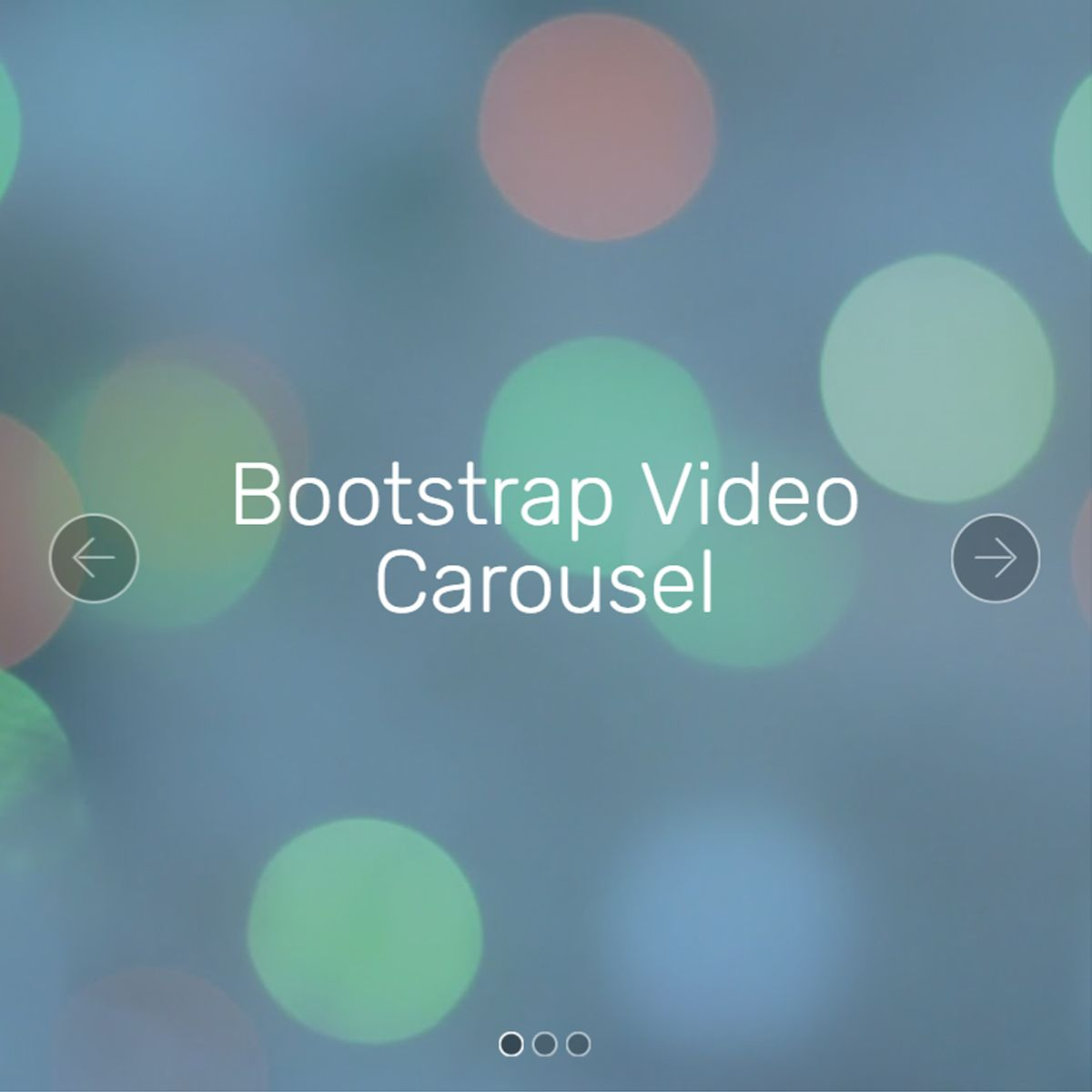 CSS Bootstrap Image Carousel