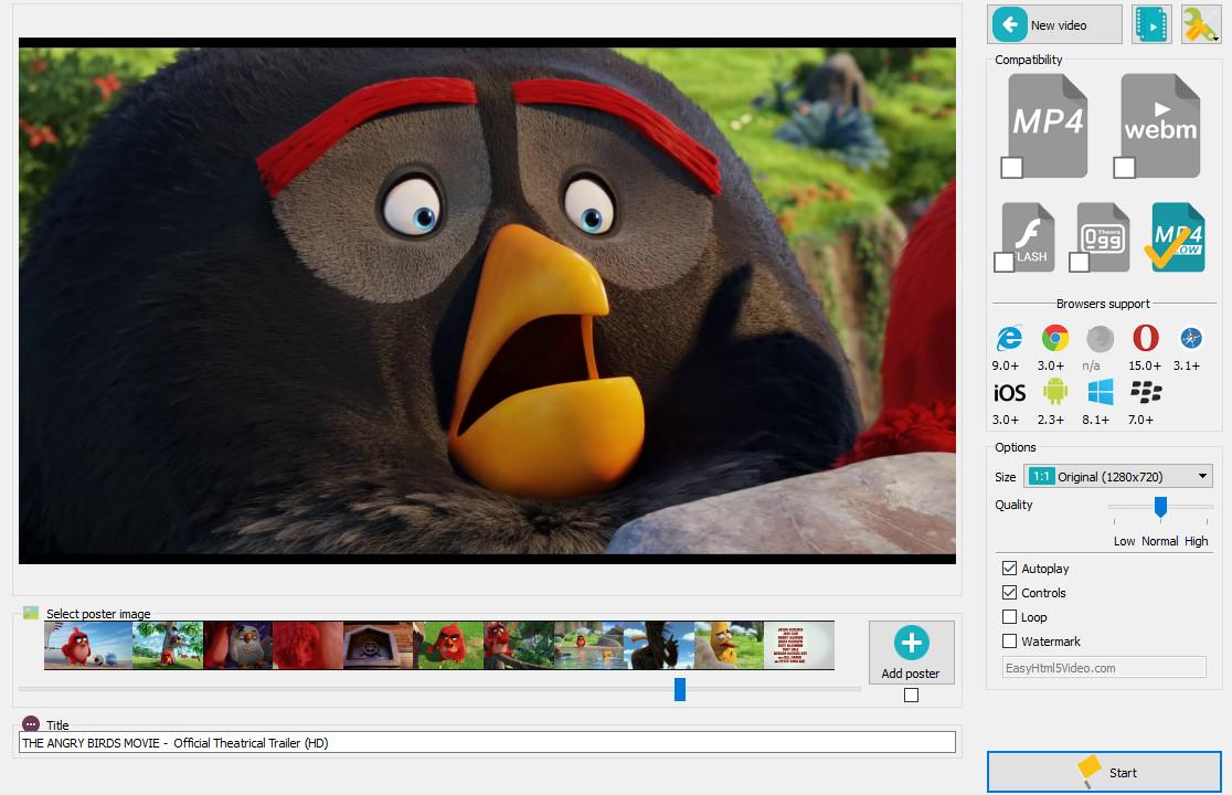 Free Video HTML5 Converter